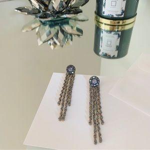 Zara Purple Gem Waterfall Earrings
